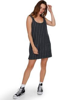 BLACK WOMENS CLOTHING RVCA DRESSES - RV-R291752-BLK