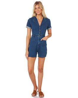 ELECTRIC BLUE WOMENS CLOTHING AFENDS PLAYSUITS + OVERALLS - W184882ELEC