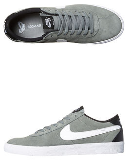 TUMBLED GREY WHITE MENS FOOTWEAR NIKE SKATE SHOES - 877045-011