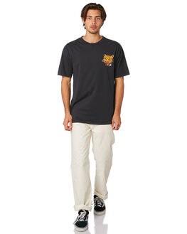 BLACK MENS CLOTHING VOLCOM TEES - A4311903BLK