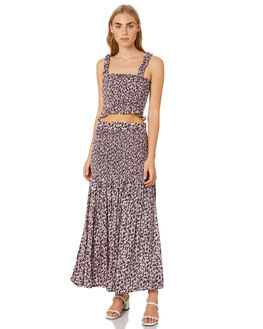 MUSEE FLORAL ORCHID WOMENS CLOTHING RUE STIIC SKIRTS - SW-20-19-3MFOVR