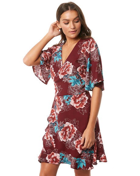 MAGENTA BLOOM WOMENS CLOTHING O'NEILL DRESSES - 4721611-MGB