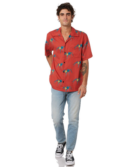 POPPY RED MENS CLOTHING NUDIE JEANS CO SHIRTS - 140706R35