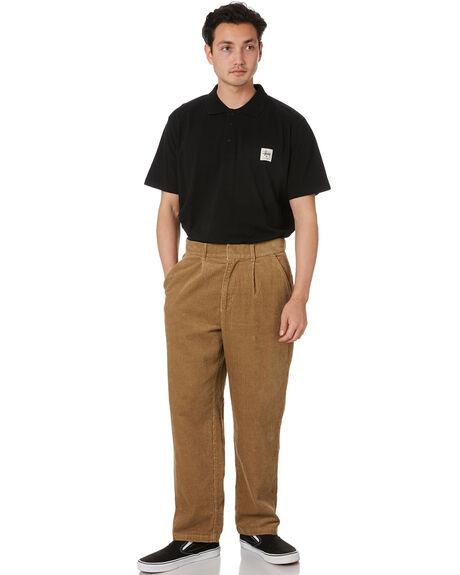 BLACK MENS CLOTHING STUSSY SHIRTS - ST002104BLACK