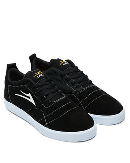 BLACK WHITE SUEDE MENS FOOTWEAR LAKAI SNEAKERS - MS1200249A00-BKWTS