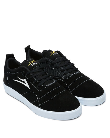 BLACK WHITE SUEDE MENS FOOTWEAR LAKAI SNEAKERS - MS1200249A00-BKWTS