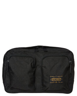 BLACK MENS ACCESSORIES STUSSY BAGS + BACKPACKS - ST792021BLK