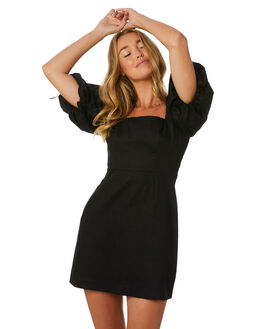 BLACK WOMENS CLOTHING LULU AND ROSE DRESSES - LU23905BLK