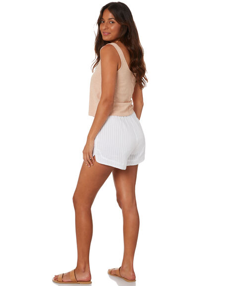 WHITE WOMENS CLOTHING RUSTY SHORTS - SCL0340WHT