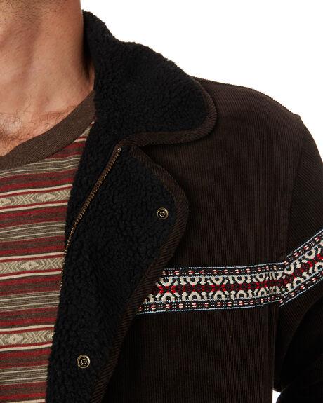 BROWN CORD MENS CLOTHING WRANGLER JACKETS - W-901813-NY1