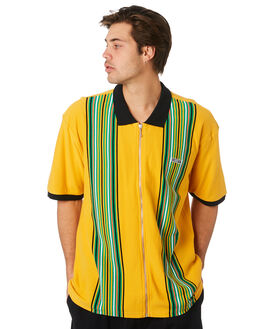 ENERGY YELLOW MULTI MENS CLOTHING OBEY SHIRTS - 131090048ENGYL