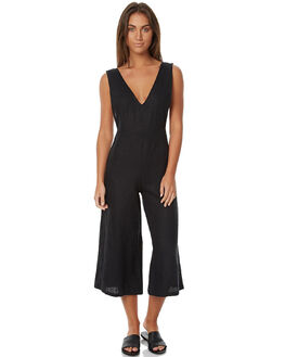 BLACK WOMENS CLOTHING THE BARE ROAD PLAYSUITS + OVERALLS - 790741-01BLK