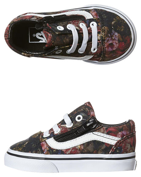 760b9e10eb Vans Tots Old Skool Zip Shoe - Black White