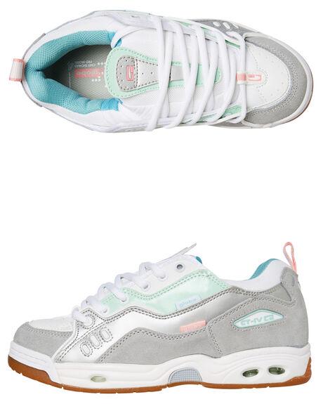 WHITE MINT WOMENS FOOTWEAR GLOBE SNEAKERS - SSGBCTIVC11774W