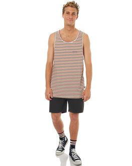 VINTAGE STRIPE MENS CLOTHING RPM SINGLETS - 7SMT08BVSTRP