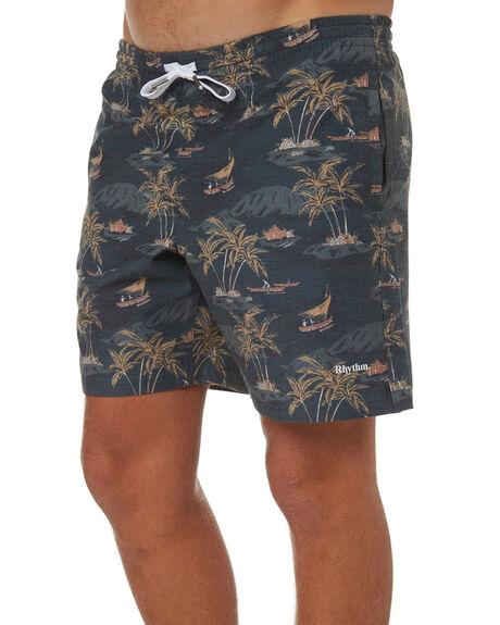 NAVY MENS CLOTHING RHYTHM BOARDSHORTS - OCT18M-JM09-NAV