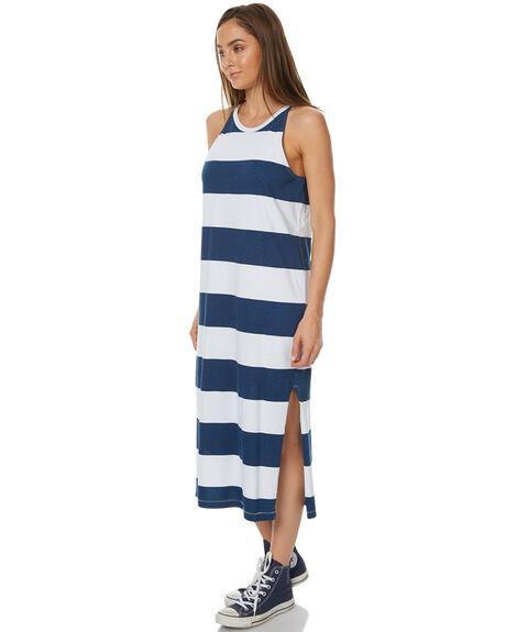 NAVY BLUE WOMENS CLOTHING RUSTY DRESSES - DRL0860NVB