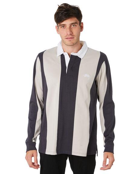 NAVY MENS CLOTHING STUSSY SHIRTS - ST091110NVY