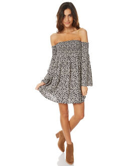 OFF BLACK WOMENS CLOTHING BILLABONG DRESSES - 6576478X_BLACK