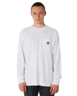 WHITE MENS CLOTHING CARHARTT TEES - I02209402