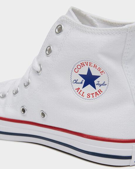 OPTICAL WHITE KIDS BOYS CONVERSE SNEAKERS - 3J253WHT