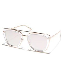 CLEAR ROSE WOMENS ACCESSORIES QUAY EYEWEAR SUNGLASSES - QW-000172CLRRS