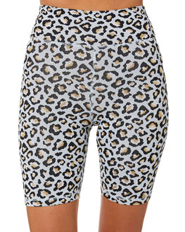 ICE BLUE LEOPARD WOMENS CLOTHING THE UPSIDE ACTIVEWEAR - USW120032ICELP
