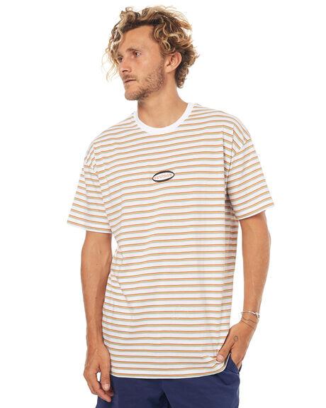 WHITE MENS CLOTHING STUSSY TEES - ST073107WHT
