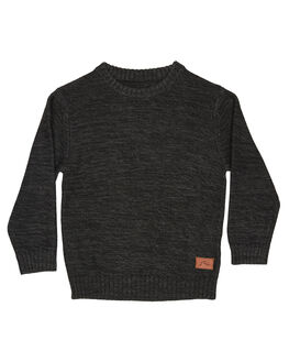 BLACK MARLE KIDS BOYS RUSTY JUMPERS + JACKETS - CKR0002BLKML