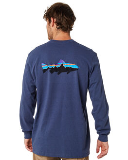 DOLOMITE BLUE MENS CLOTHING PATAGONIA TEES - 39160DLMB