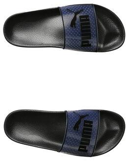 BLACK WOMENS FOOTWEAR PUMA SLIDES - 36453301BLK