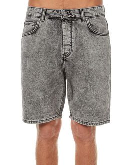 GREY RETRO STONE MENS CLOTHING DR DENIM SHORTS - 1710111-B45