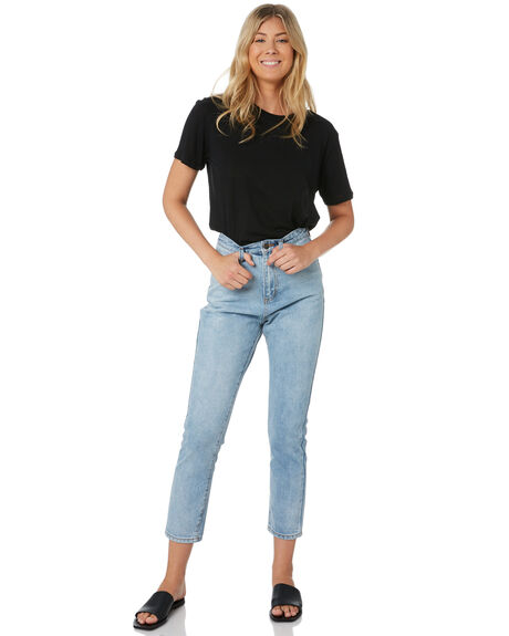 BLUE WOMENS CLOTHING THE HIDDEN WAY JEANS - H8189196BLUE
