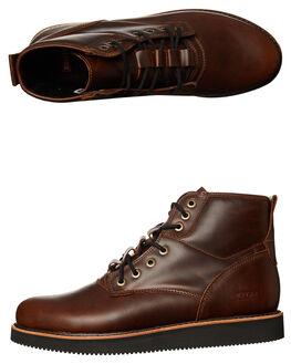 DARK BROWN BLACK MENS FOOTWEAR GLOBE BOOTS - GBKOMACHI-17281