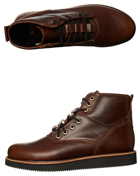 fe5713539dc Globe Komachi Leather Boot - Dark Brown Black | SurfStitch