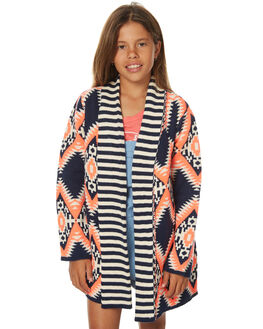 NAVY NEON CORAL KIDS GIRLS EVES SISTER JUMPERS - 9990142NVY