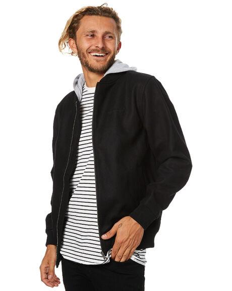 BLACK MENS CLOTHING RPM JACKETS - 7WMT18ABLK