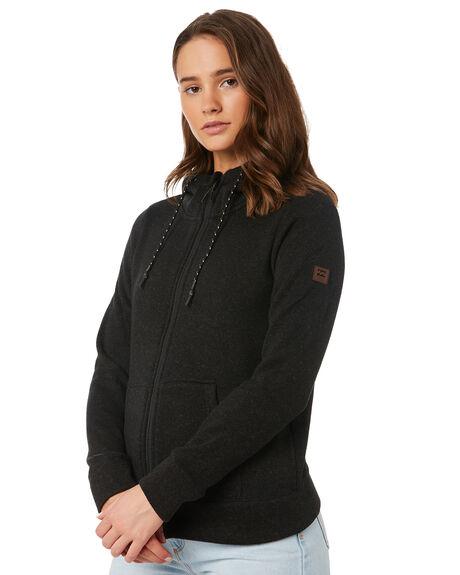 BLACK HEATHER WOMENS CLOTHING BILLABONG JUMPERS - 6595734BLH