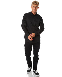BLACK BLACK MENS CLOTHING RVCA SHIRTS - R141216BKBK