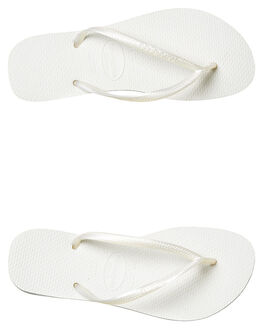 WHITE WOMENS FOOTWEAR HAVAIANAS THONGS - HSMS0001WHI