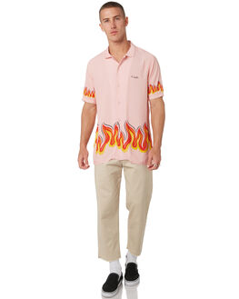 PINK FLAMES MENS CLOTHING BARNEY COOLS SHIRTS - 303-CC1PNK