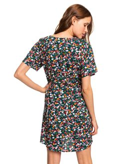ANTHRACITE BOUQUET WOMENS CLOTHING ROXY DRESSES - ERJWD03387-KVJ9