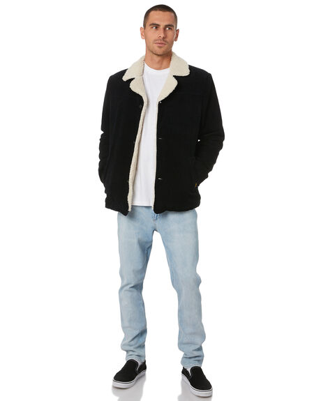BLACK CORD MENS CLOTHING WRANGLER JACKETS - W-901823-E49