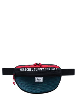 BLACK RED BUTTON MENS ACCESSORIES HERSCHEL SUPPLY CO BAGS + BACKPACKS - 10590-03101-OSBLKRD