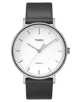 SILVER BLACK WHITE MENS ACCESSORIES TIMEX WATCHES - TW2R26300BLKWH