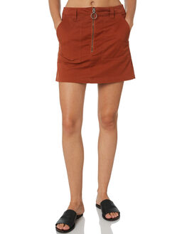 RUST WOMENS CLOTHING VOLCOM SKIRTS - B1431900RST