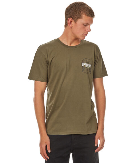 ARMY MENS CLOTHING UPPERCUT TEES - UPDTS0539ARMY