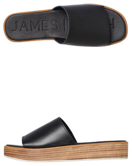 BLACK WOMENS FOOTWEAR JAMES SMITH SLIDES - 6118537BLK