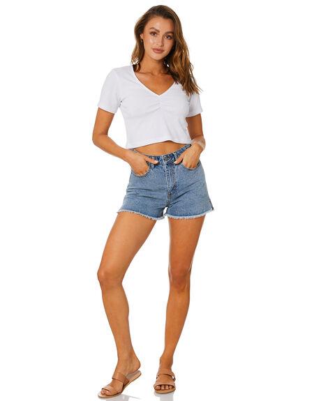 WHITE WOMENS CLOTHING RUSTY TEES - FSL0569-WHT