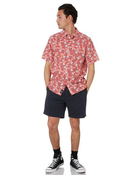 RED MENS CLOTHING THRILLS SHIRTS - TS20-207HRED